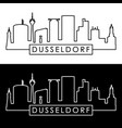 dusseldorf skyline linear style editable file vector image vector image