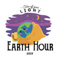 earth hour 30 march our planet sleeps on the vector image vector image