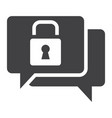 encrypted messaging solid icon security vector image vector image