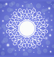 festive template snowflake frame for new year vector image vector image