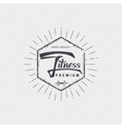 Fitness - badges lettering calligraphy is vector image vector image