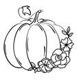 floral pumpkin vector image