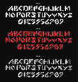 futuristic font in geometric style conceptual vector image