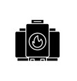 gas boiler black icon sign on isolated vector image vector image