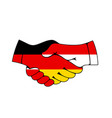 germany and poland business handshake vector image
