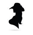 girl with hat vector image vector image