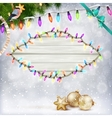Glowing White Christmas Lights EPS 10 vector image vector image
