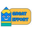 great effort teacher reward sticker school award