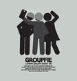 Groupfie Symbol A Group Selfie By Phone vector image vector image