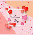 happy valentines day greeting card or invitation vector image vector image