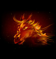 head horse in fire vector image vector image