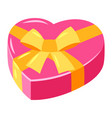 heart shaped gift vector image