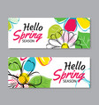 hello spring sale banner template with colorful vector image vector image