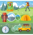 Hike Expedition and Tourism vector image
