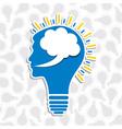 human head bulb vector image vector image