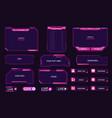 live stream interface overlay frames for gamer vector image