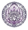 lotus mandala vector image vector image