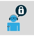 man wearable tech padlock vector image vector image
