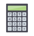 Mathematics business calculator technology vector image