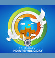 paper cut style 26th january happy republic day