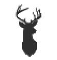Pixel head of deer in vector image vector image