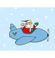 Santa Flying vector image vector image