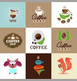 set of coffee elements and accessories vector image