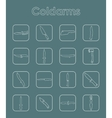 Set of cold arms simple icons vector image vector image