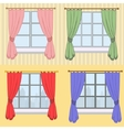 Set of curtains with different colors vector image vector image
