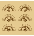 Set of Indicators in Retro Style vector image vector image