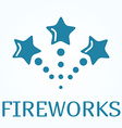 Sign or icon of fireworks in flat style vector image vector image