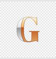 silver and gold font symbol alphabet letter g vector image