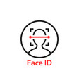 simple thin line face id scan logo vector image