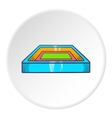 Square stadium icon cartoon style vector image vector image