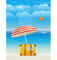 Summer seaside vacation Template for a text vector image