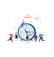 time management concept flat characters vector image