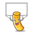 up board tortiglioni pasta character cartoon vector image vector image