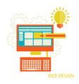 website design development vector image