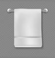 white towel realistic bathroom cotton textile