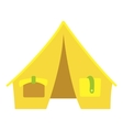 Yellow tent icon cartoon style vector image vector image