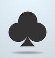icon of Clubs card suit vector image