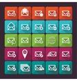 Set of twenty five flat mail icons vector image