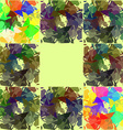 Abstractly painted watercolor squares vector image vector image