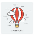 adventure and exploration flat thin line concept vector image