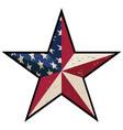 american patriotic barn star vector image vector image