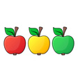 Apple icons vector image vector image