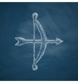 archery icon vector image vector image