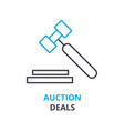 auction deals concept outline icon linear sign vector image vector image