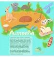 Australia map concept cartoon style