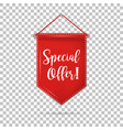 banner tag special offer with shadow on isolated vector image